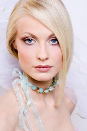Свадебный макияж невесты фото.
